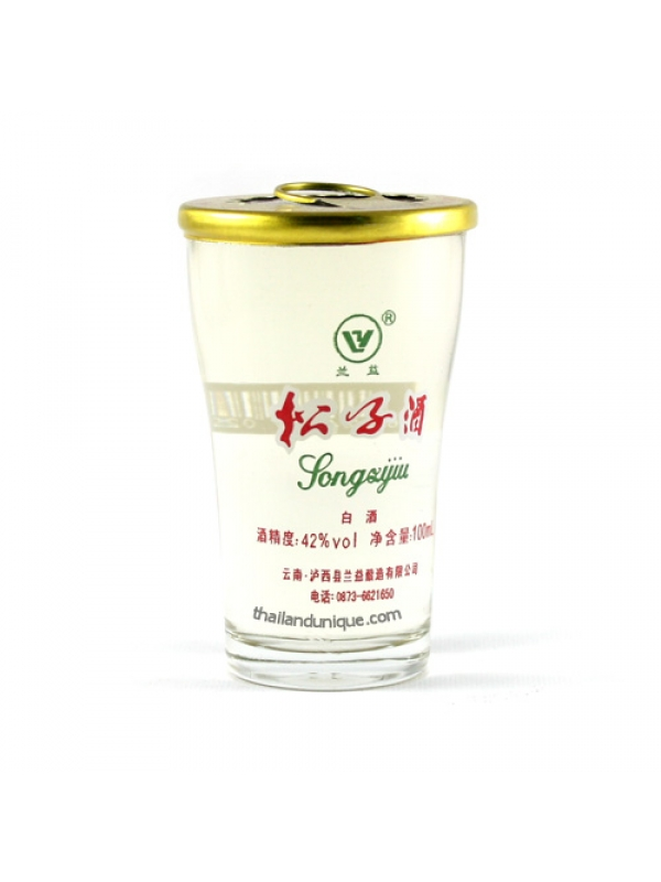 Strong Chinese Whiskey in Shot Glass