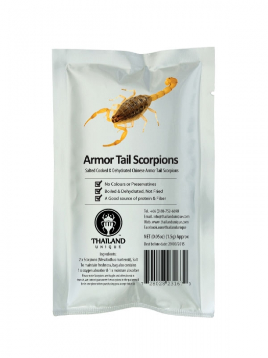 Edible Chinese Armor Tail Scorpions