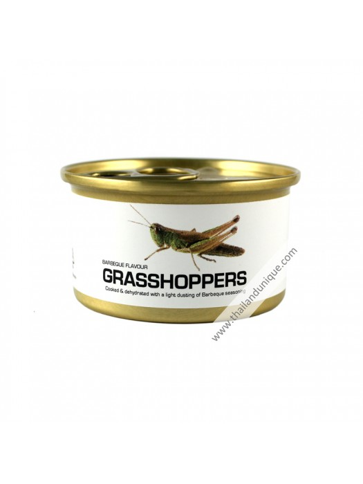 Canned Grasshoppers with Salt