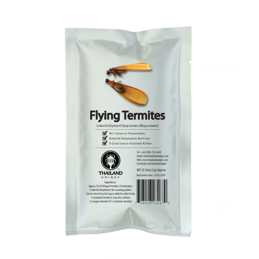 Edible dehydrated Termite Alates
