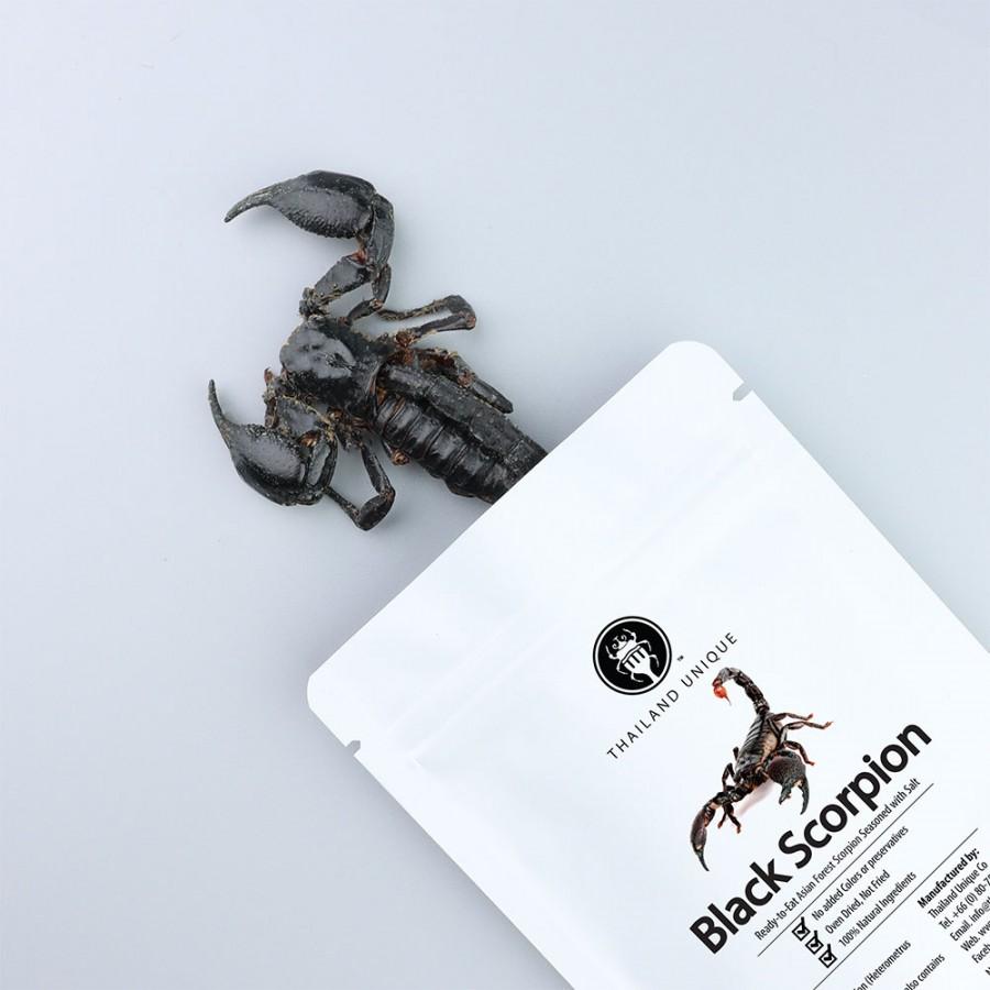Edible Black Asian Forest Scorpion