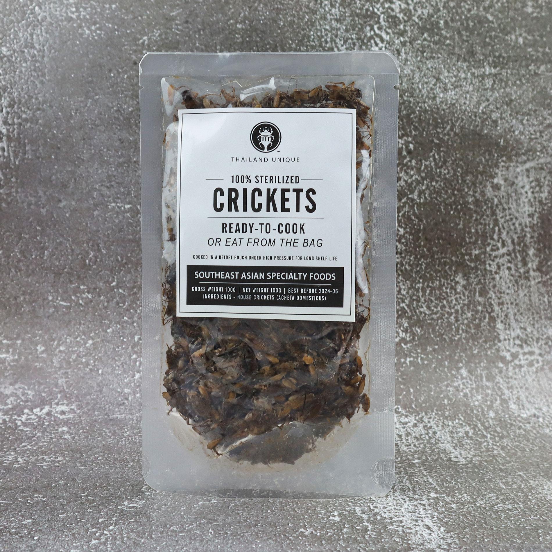 Acheta Crickets in retort pouch 100g